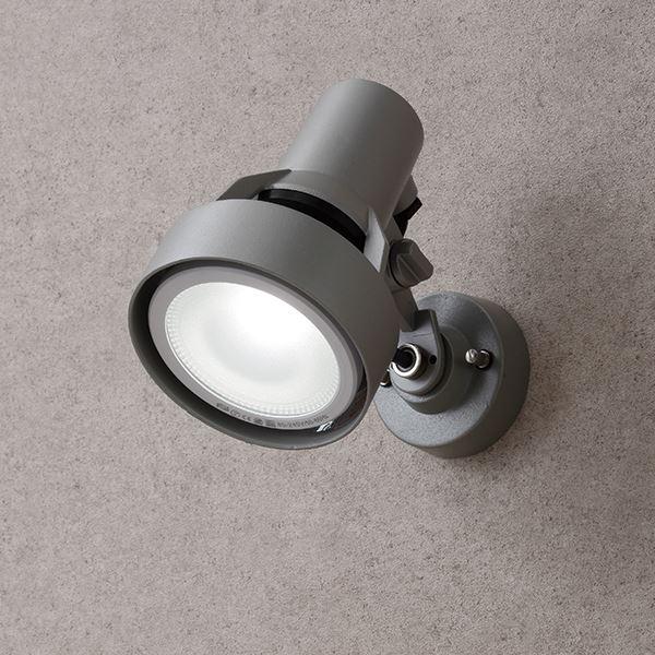 タカショー ウォールスポットライト(100V) シンプルLED スポットライト(LED色:白) #72342300 HFE-W28S シルバーグレー