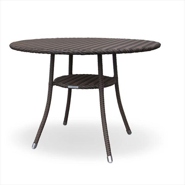 かじ新 RAUCORD AMALFI ダイニングテーブル 1000φ 『ガーデンテーブル ガーデンファニチャー』 ダークブラウン