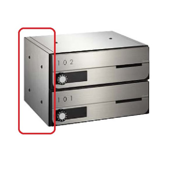 ナスタ KS-MBS11S ポストサイドパネル 3段 1列 D-ALL(KS-MB□□02P)用 KS-MBS11S ステンレスヘアーライン