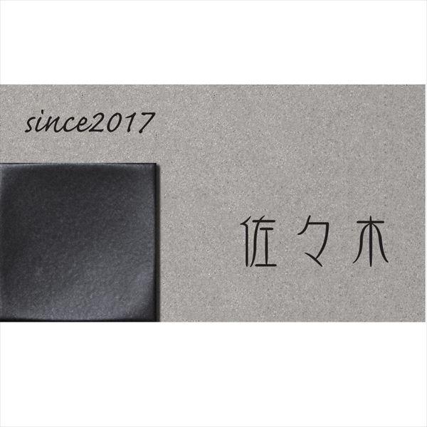 ユニソン ワンロック リタ 180×100 レイアウトN  ベース色:グレー  『表札 サイン 戸建』