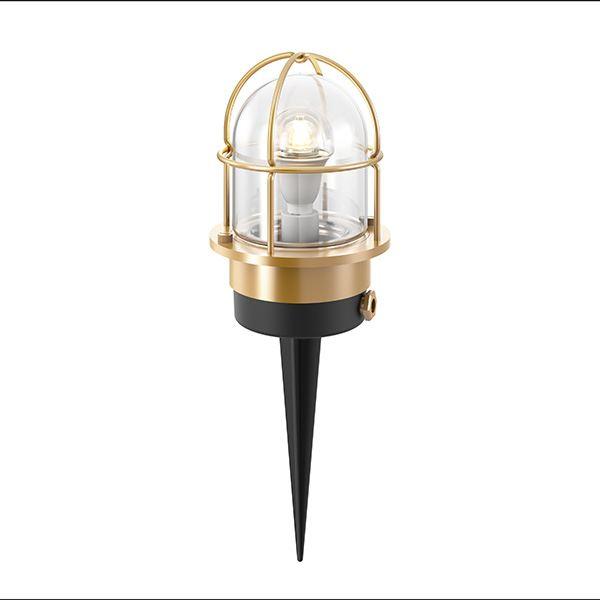 タカショー マリンライト ブラス スパイクタイプ (ローボルト) HBF-D29B #75121100 『エクステリア照明 マリンライト』