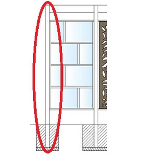 タカショー エバースクリーン フレームレス用柱 75角 (キャップ付)  H2000用 L=2500 ウッドカラー ※受注生産品