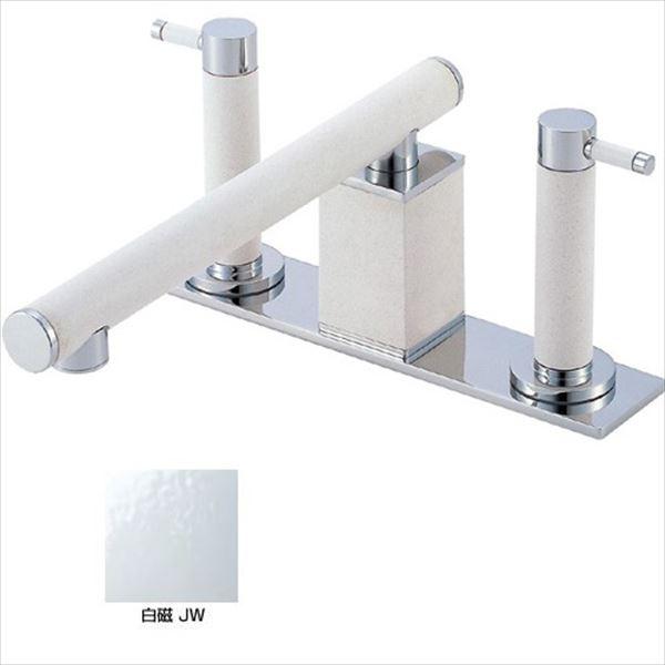 三栄水栓製作所 水栓金具 TOH BATHROOM K91300-L-JW-13 白磁 *受注生産品です
