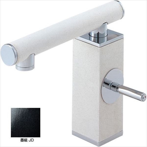 三栄水栓製作所 水栓金具 TOH BASIN K4730JV-JD-13 墨磁 *受注生産品です