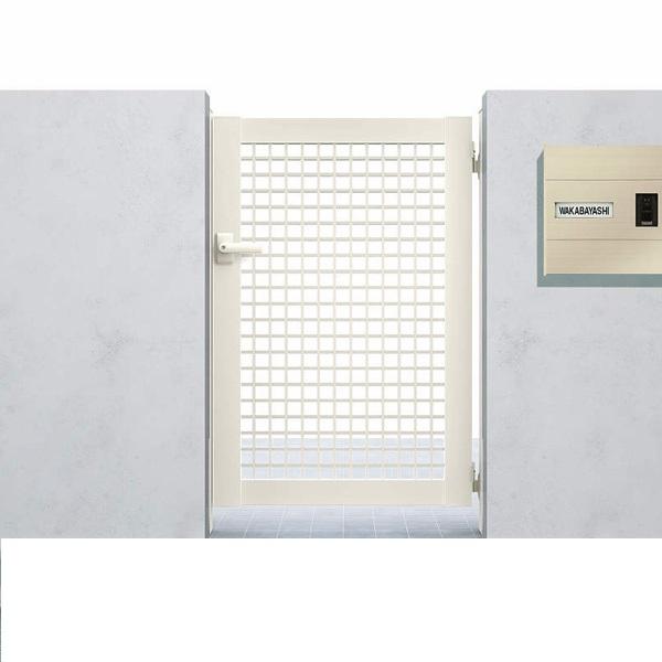 YKK ap シンプレオ門扉7型 片開き  06-12 HME-7 『井桁格子デザイン』