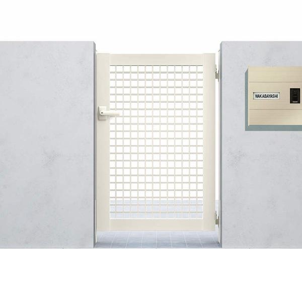 YKKAP シンプレオ門扉7型 片開き  07-12 HME-7 『井桁格子デザイン』
