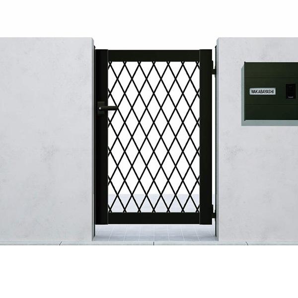 YKK ap シンプレオ門扉8型 片開き  08-12 HME-8 『ラチス格子デザイン』