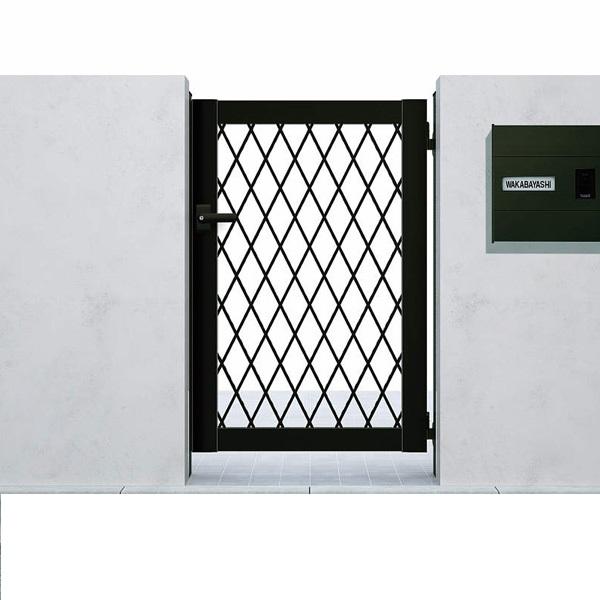YKK ap シンプレオ門扉8型 片開き  09-12 HME-8 『ラチス格子デザイン』