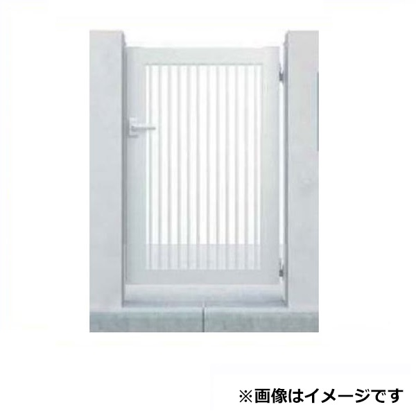 YKK ap シンプレオ門扉10型 片開き オートクローザ付き門柱仕様 08-12 HME-10 『たて(粗)格子デザイン』