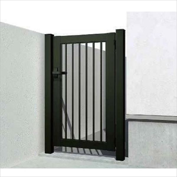 YKKAP 片開き専用シンプレオ門扉 K2型 埋込門柱+埋込門柱 07-12 HME-K2