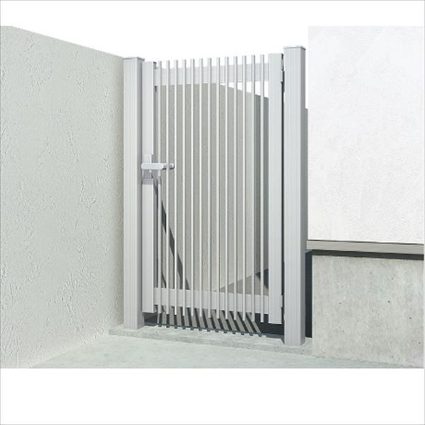 YKKAP 片開き専用シンプレオ門扉 T1型 埋込門柱+埋込門柱 07-12R HME-T1