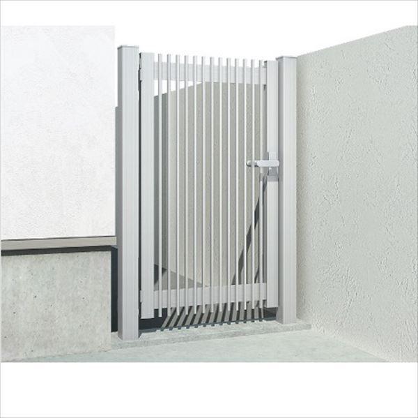 YKKAP 片開き専用シンプレオ門扉 T1型 埋込門柱+埋込門柱 07-10L HME-T1