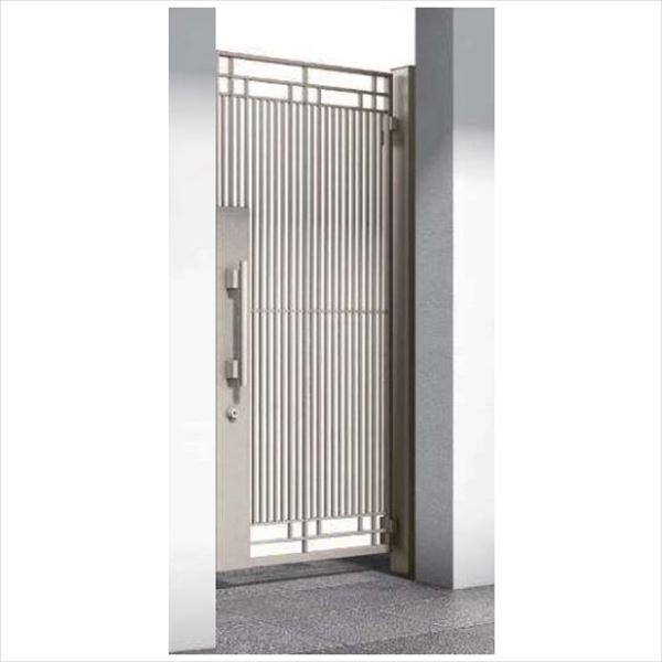 【数量は多】 YKKAP シャローネ門扉 SA02型 片開き 門柱仕様 08-18R:エクステリアのプロショップ キロ-エクステリア・ガーデンファニチャー