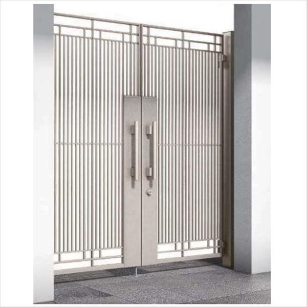 YKKAP シャローネ門扉 SA02型 両開き 門柱仕様 08-16L
