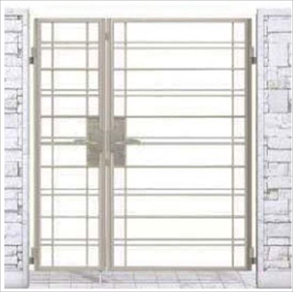 YKK ap シャローネ門扉 SB01型 親子開き 門柱仕様 04・08-16