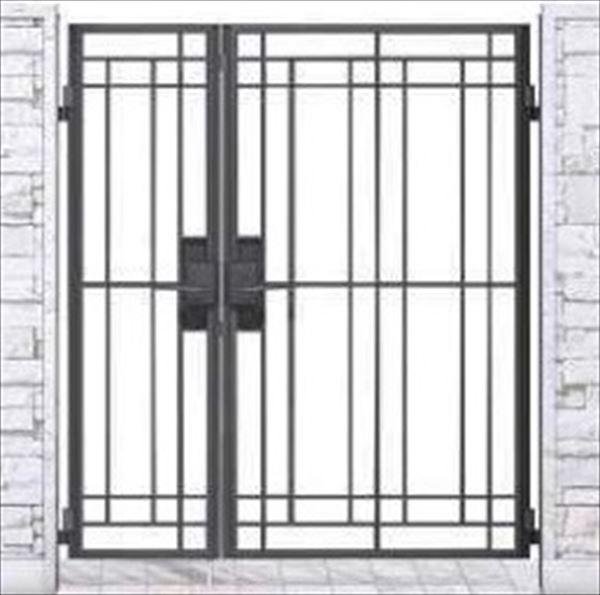 YKKAP シャローネ門扉 SB02型 親子開き 門柱仕様 04・08-16