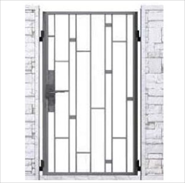 YKK ap シャローネ門扉 SB03型 片開き 門柱仕様 08-16