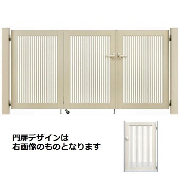 YKKAP シンプレオ門扉 2型 4枚折戸セット 門柱仕様 08-12