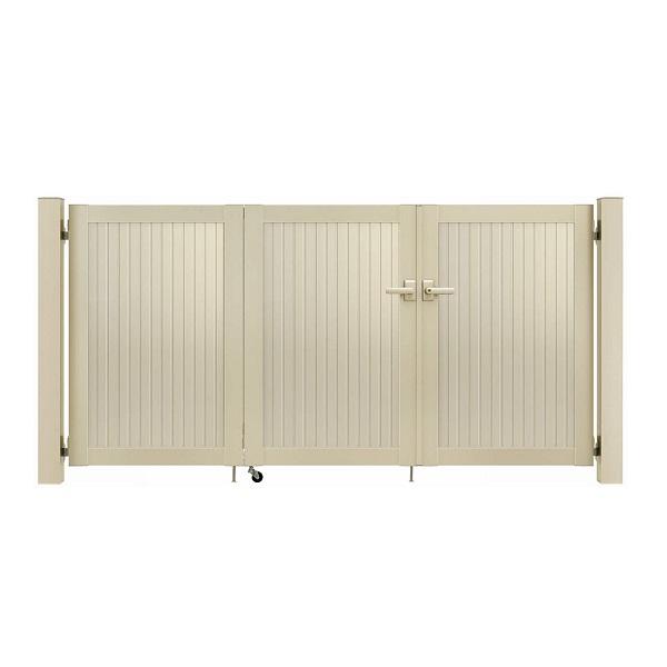 YKKAP シンプレオ門扉 6型 3枚折戸セット 門柱仕様 09-10