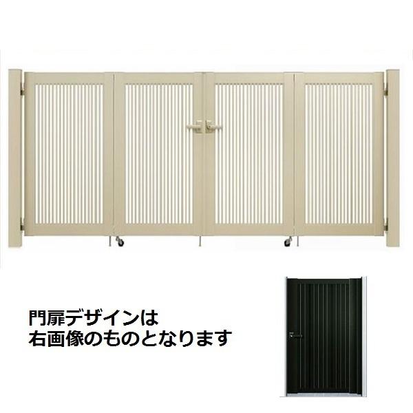 YKK ap シンプレオ門扉 6型 4枚折戸セット 門柱仕様 08-12