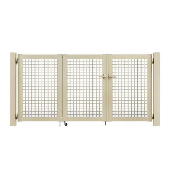 YKKAP シンプレオ門扉 7型 3枚折戸セット 門柱仕様 09-10