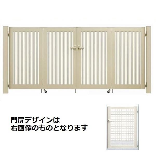 YKKAP シンプレオ門扉 7型 4枚折戸セット 門柱仕様 09-10