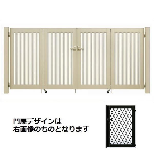 YKKAP シンプレオ門扉 8型 4枚折戸セット 門柱仕様 08-12