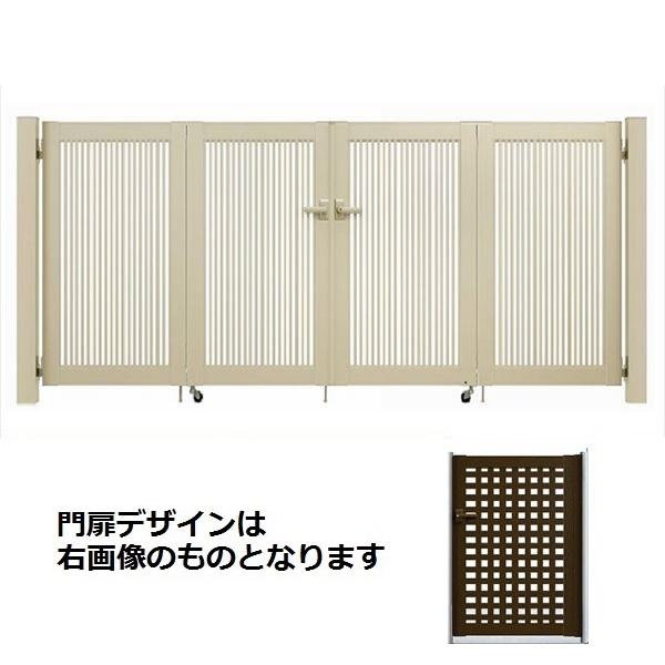 YKK ap シンプレオ門扉 11型 4枚折戸セット 門柱仕様 09-12