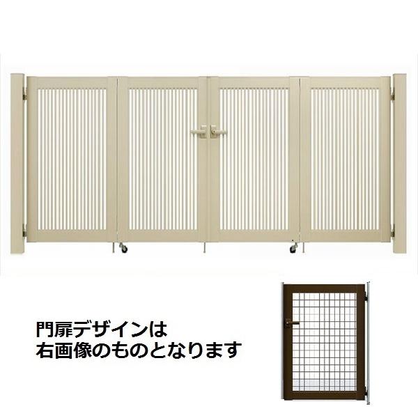 YKKAP シンプレオ門扉 M1型 4枚折戸セット 門柱仕様 09-12