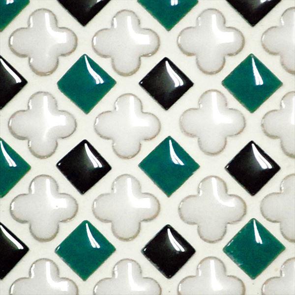 オンリーワン ミニッツモザイク フラワーミックスシリーズ(10mm角・13mm花形Mix貼り) 施釉タイプ カラー3 EZ2-FM03 3シート入り
