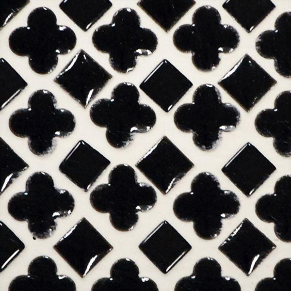 オンリーワン ミニッツモザイク フラワーミックスシリーズ(10mm角・13mm花形Mix貼り) 施釉タイプ カラー7 EZ2-FM07 3シート入り