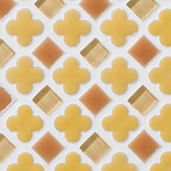 オンリーワン ミニッツモザイク フラワーミックスシリーズ(10mm角・13mm花形Mix貼り) 施釉タイプ カラー8 EZ2-FM08 3シート入り