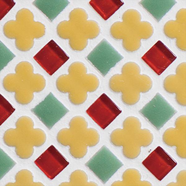 オンリーワン ミニッツモザイク フラワーミックスシリーズ(10mm角・13mm花形Mix貼り) 施釉タイプ カラー9 EZ2-FM09 3シート入り
