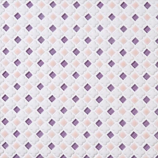 オンリーワン ミニッツモザイク フラワーミックスシリーズ(10mm角・13mm花形Mix貼り) 施釉タイプ カラー12 EZ2-FM12 3シート入り