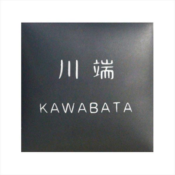 オンリーワン ラウンドスクエア表札 漢字+ローマ字 KZ1-145BNKR 『表札 サイン 戸建』