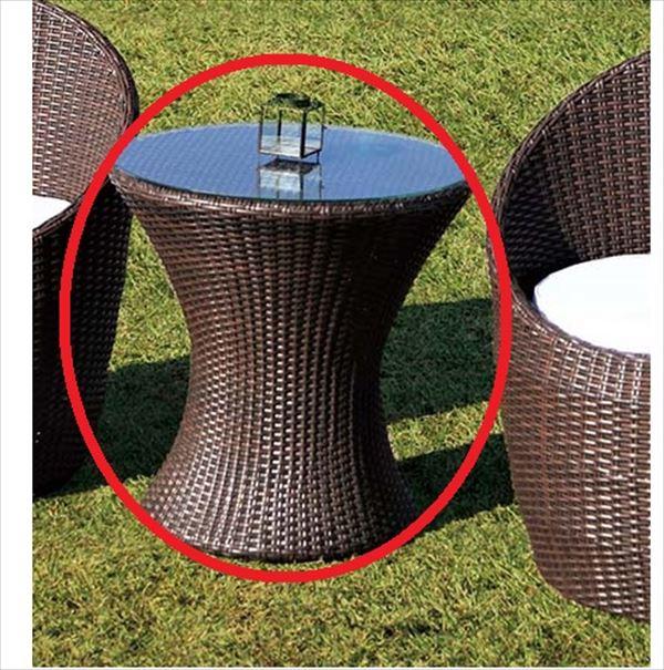 【限定特価】 ジャービス商事 人工ラタン ミニガラステーブル NH-30101 #38721:エクステリアのプロショップ キロ-エクステリア・ガーデンファニチャー