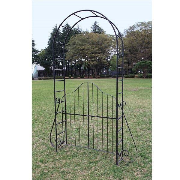 ジャービス商事 ガーデンアーチ 門扉付 アーチ1型 34115 『アーチ・パーゴラ』