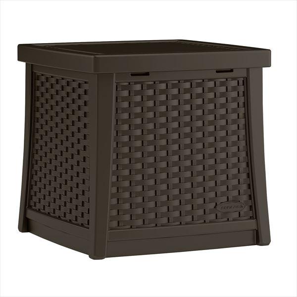 SUNCAST ラタン調テーブルボックス(S) コーヒー BMDB1300 『ガーデンボックス』