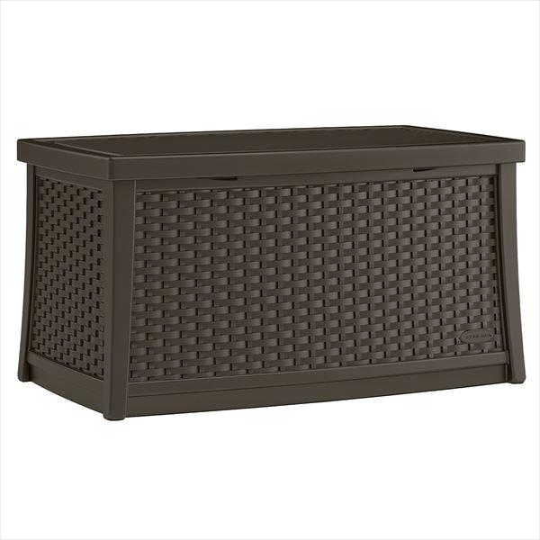 SUNCAST ラタン調テーブルボックス(L) コーヒー BMDB3000 『ガーデンボックス』