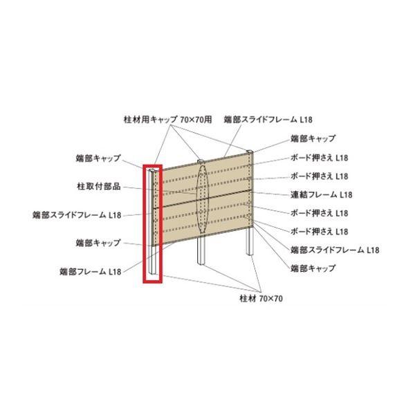 リクシル TOEX デザイナーズパーツ デザイナーズボード 柱材 70×70 L=2350 シャイングレー 8TYD47SC 『外構DIY部品』