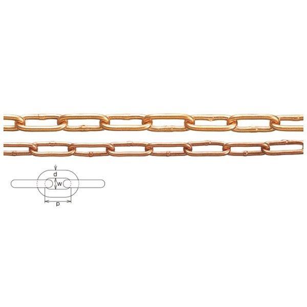 水本機械製作所 銅チェーン 線径9mm CU-9 *価格は1m単価で商品は1本もので納品です