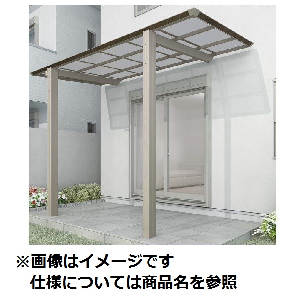 四国化成 スマート トップ 基本セット 前柱仕様 延高 間口3742×6尺(1854) SMTFE-K3719 木調タイプ/熱線吸収ポリカ