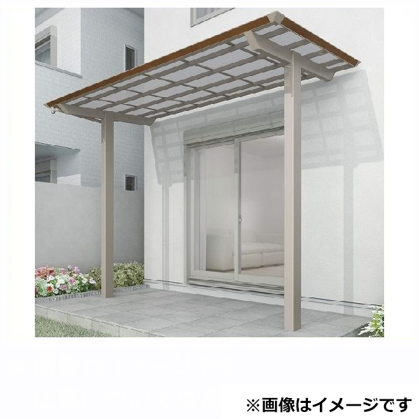 四国化成 スマート トップ 基本セット 中柱仕様 標準高 間口2534×5尺(1540) SMTC-K2515 木調タイプ/熱線吸収ポリカ