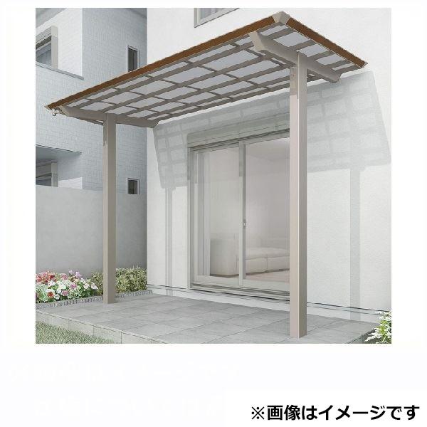 四国化成 スマート トップ 基本セット 中柱仕様 標準高 間口2534×7尺(2093) SMTC-K2521 木調タイプ/熱線吸収ポリカ