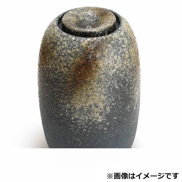 メイク 利休信楽水琴窟 インテリア水琴窟 (屋内用) a.Smallシリーズ 青古信楽 a,small S-3
