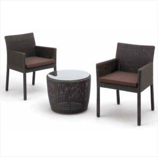 タカショー 庭座 テーブルチェアー3点セット 『ガーデンチェア ガーデンテーブル セット』