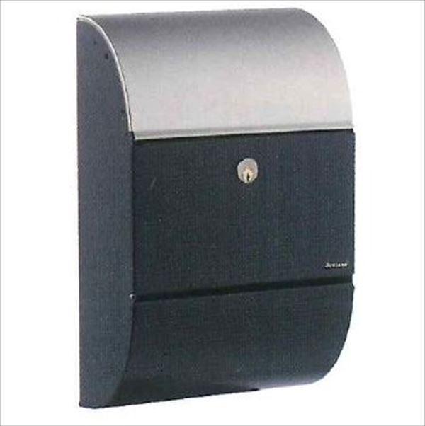 JULIANA(ジュリアナ社) パトリシア   ALLUX-3000 ブラック&ステンレス  F60305 『郵便ポスト 壁付け 北欧デザイン おしゃれ』