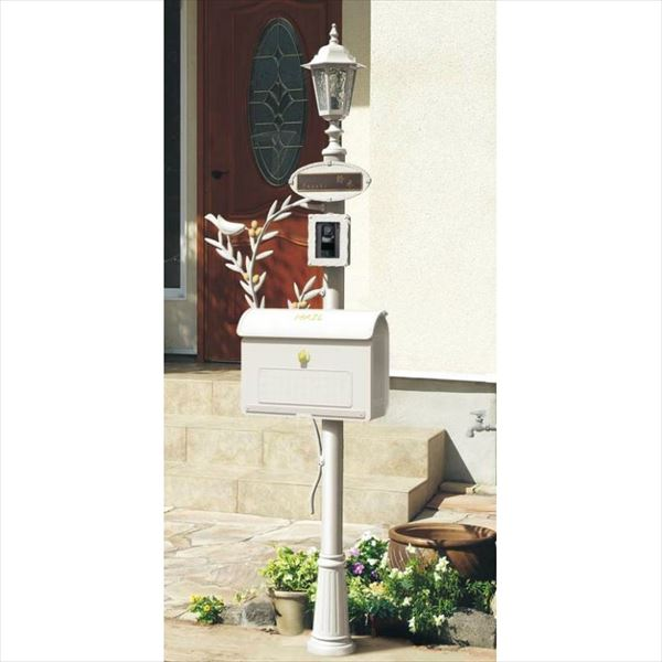 パナソニック  ユーロポール  オリーブタイプ クールホワイト色  『インターホン・表札プレートは別売りです』 『機能門柱 機能ポール』