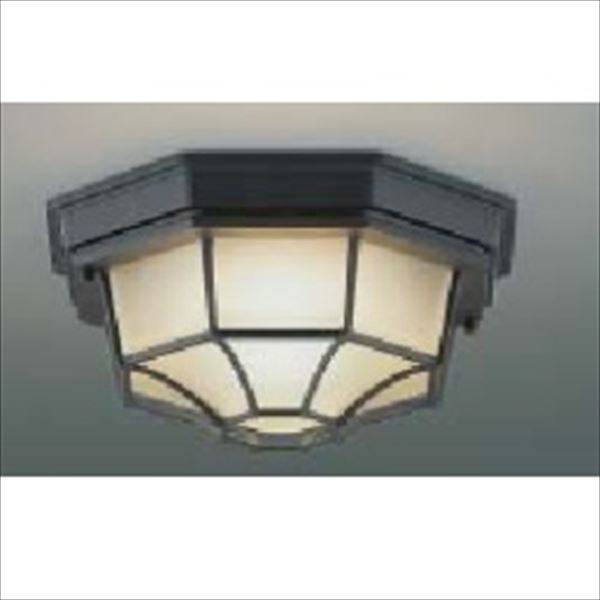 コイズミ 軒下シーリング ON-OFFタイプ 白熱球100Wクラス AU45050L 『ガーデンライト エクステリア照明 ライト LED』 黒色