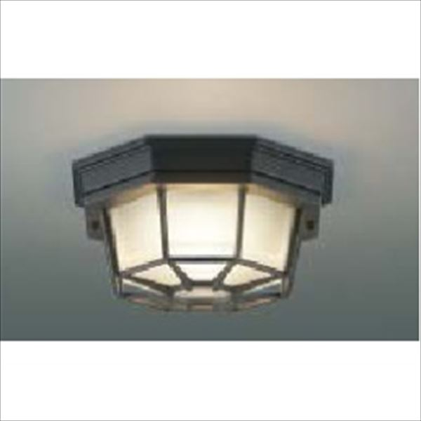 コイズミ 軒下シーリング ON-OFFタイプ 白熱球60Wクラス 直付・壁付取付 AU45051L 『ガーデンライト エクステリア照明 ライト LED』 黒色